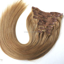 "22"" 220g Butterscotch Blonde All Colors Full Head Bellami Luxury Remy Cheap Double Drawn clip in hair extensions for short hair"