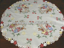 easter table cloth with embroidery