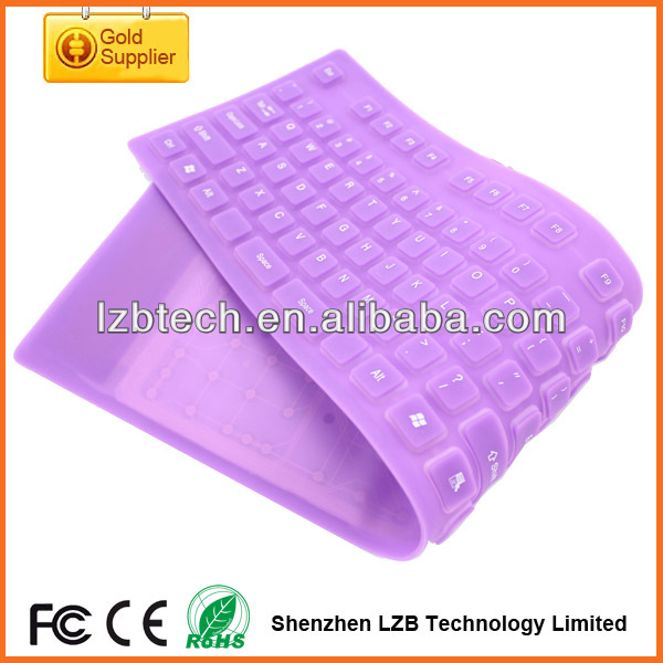 newest wired game silicone keyboard