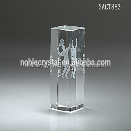 Basketball Sports Crystal 3D Laser Engraved Crystal Cube