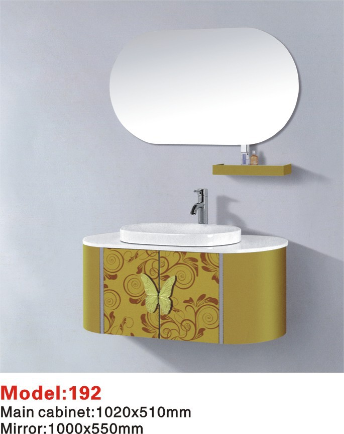 Golden color European style stainless steel bathroom cabinet(WMD-192)