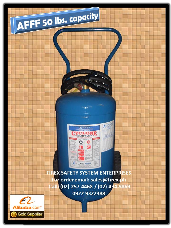 AFFF wheel type 50 lbs Fire Extinguisher