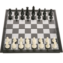 25x25x2cm Folding Travel Magnetic Chess & Checkers & Backgammon Chess Set for Kids