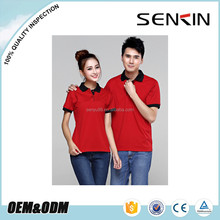 wholesale polo shirt 100% cotton, red and black family polo t shirts for sports with custom logo