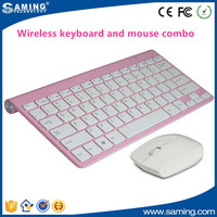 Silver Ultra Slim 2.4G Wireless Keyboard and Mouse combo for Mac PC Laptop