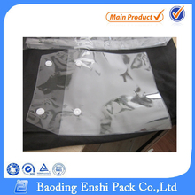 Plastic Material and Moisture Proof Feature clear pvc plastic bag with button