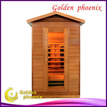 Canada red cedar infrared sauna room L2TO outdoor sauna cabin