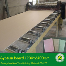 decor gypsum board for ceiling partition wall paper face plaster board
