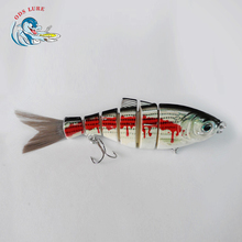 Multicolor ABS Hard shad Lure For Fishing With Vivid 3D Eyes six section swimbait