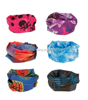 Factory wholesle micro polyester Seamless Style outdoor multifunction Bandanna /Headwear /Scarf Wrap