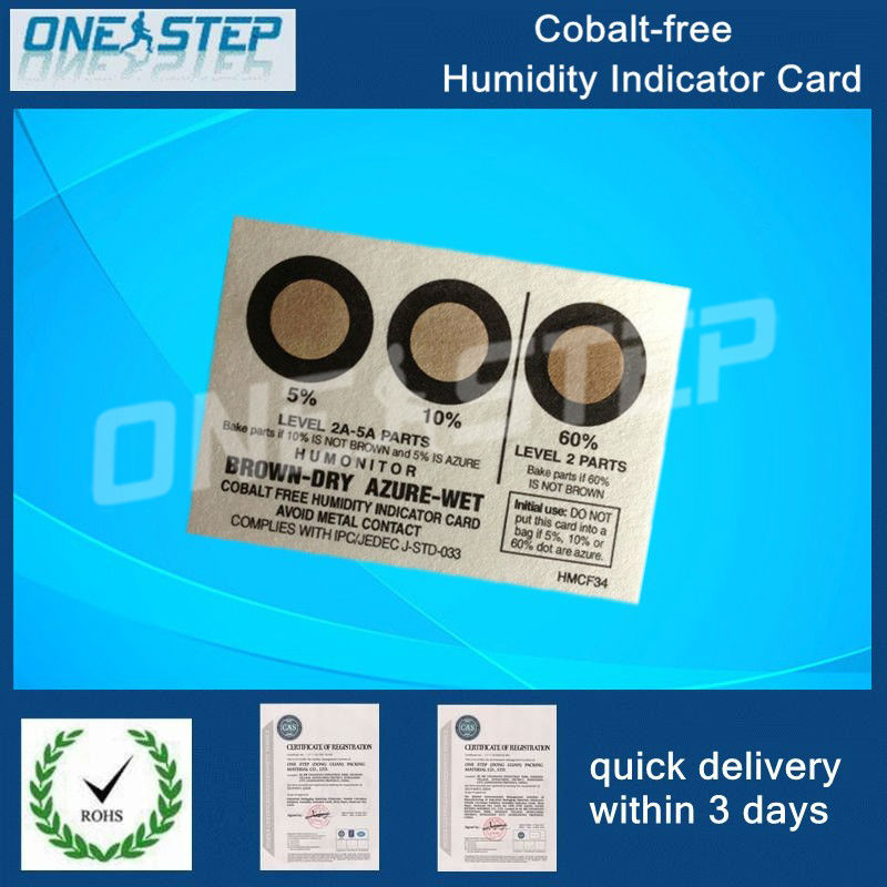cocl2 free humidity indicator card,paper, sheet, label, sticker