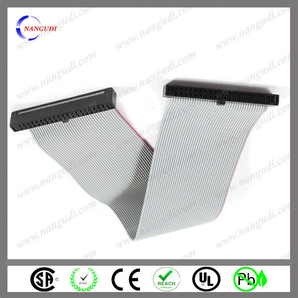 10pin 1.27 flat ribbon cable with 2.54mm IDC female connector