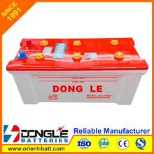 DONG LE Super Quality Lead Acid Dry Car Battery 12V 150Ah