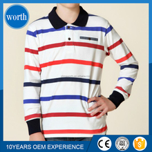 new product fashion design striped polo collar children t shirt