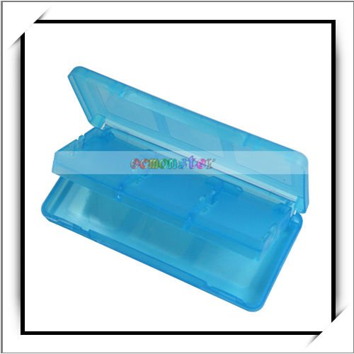 Game Card Cartride Case for Nintendo DS Lite Transparent Blue