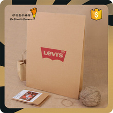 Branded Kraft Paper Bag without Handle Brown Craft Die Cut Paper Bag