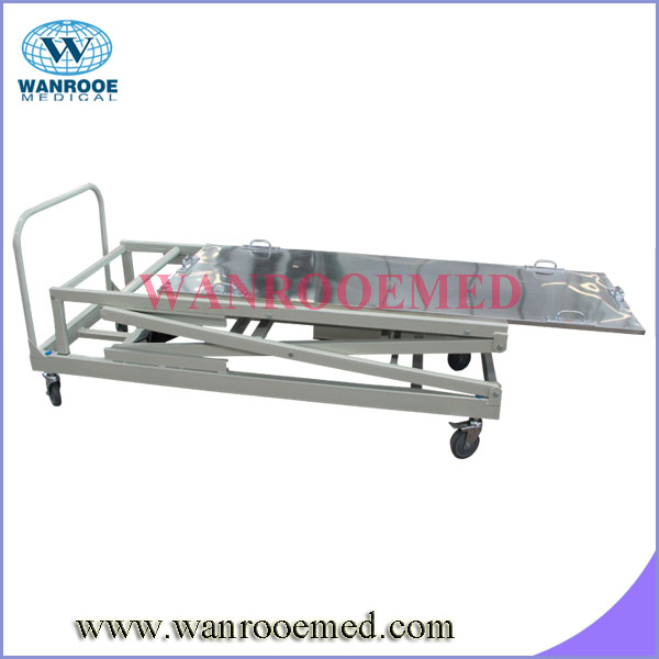 GA501 304 Stainless Steel mortuary corpse lifting equipment