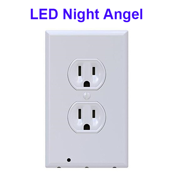 Hot Sales Outlet Cover Sensor LED Night Light Angel with 3 LEDs