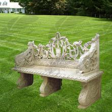 new products 2016 limestone stone bench garden