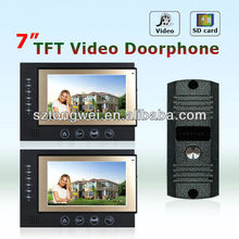 7 inch Color Photos stored 3g video door phone with SD card