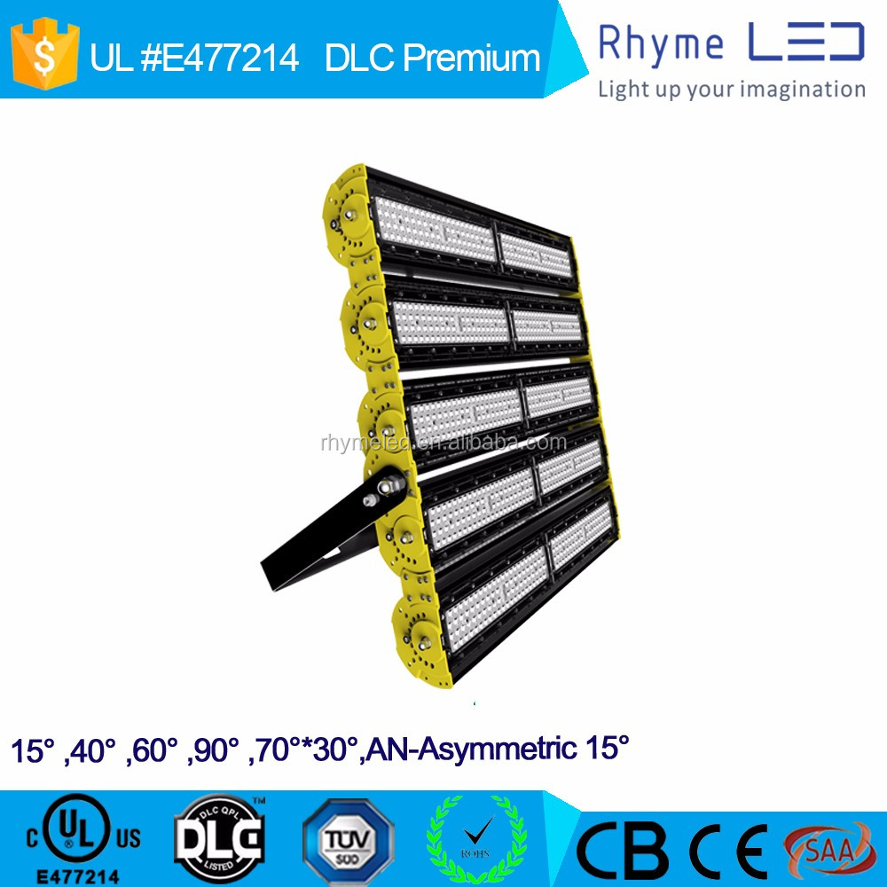 2017 new model high lumen flexible 600w led flood light with ul dlc ce rohs saa certificate