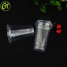 Custom High Quality 12oz Take Away Quality Promotional Disposable Logo Plastic Cups with Lid and Straws For Bubble Tea Smoothie