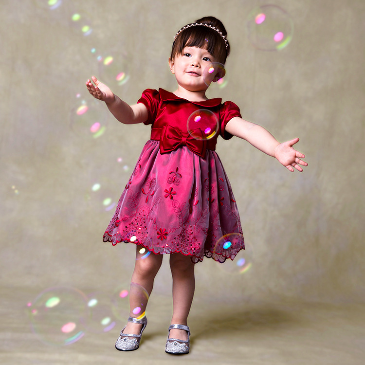 YD2541summer hottest baby dress tutu flower lace princess baby dreses