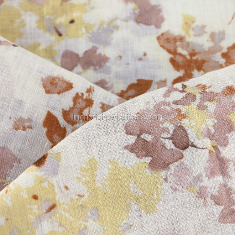 linen fabric printed for garment
