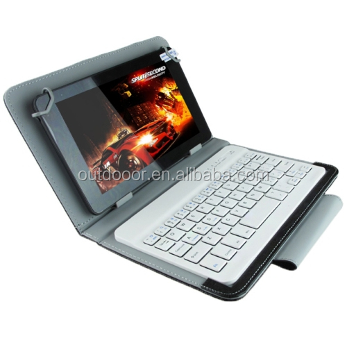 Universal Bluetooth Keyboard with Leather Case & Holder for 10.1 inch Tablet PC