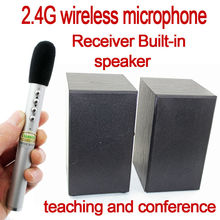 2.4GHz teaching conference wireless microphone with loudspeaker system for classroom indoor conference using with tie clip Mic