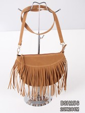 Wholesale in China fashion ladies taseel semi circle shouder bag menssenger cross-body bag