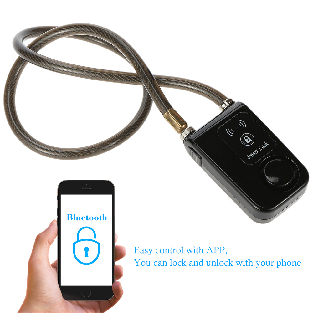 Intelligent bluetooth padlock Electronic Door Lock Wireless Door Lock motorcycle Alarm lock