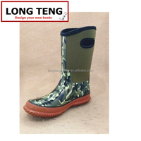 China hot sale neoprene camo rain boots