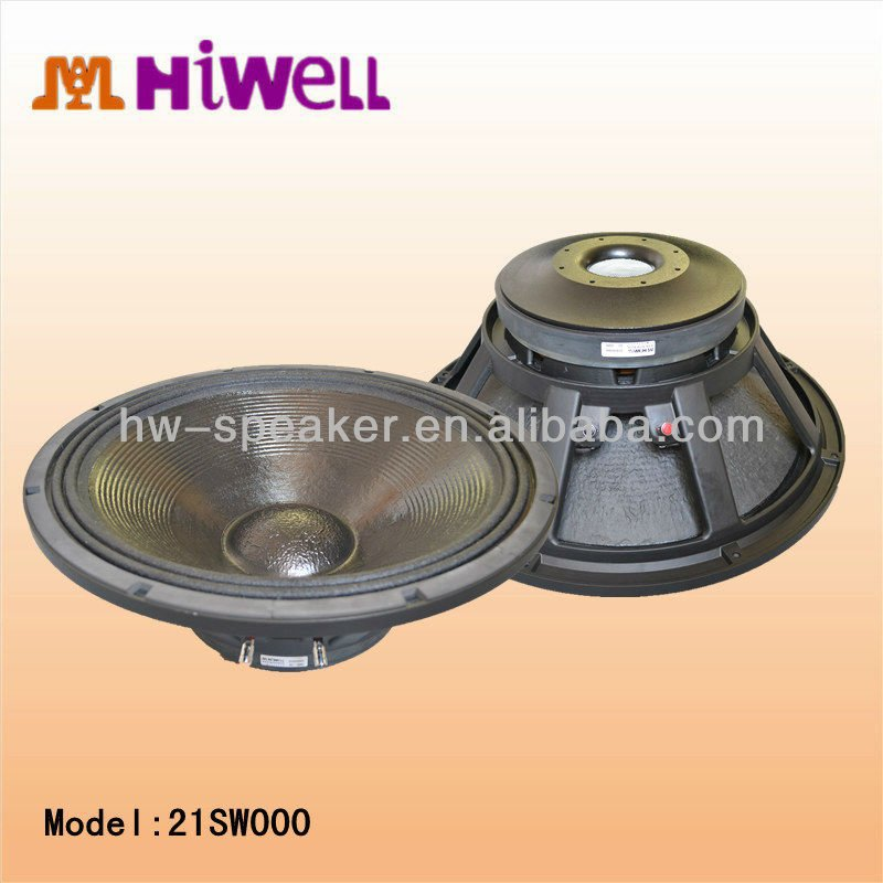 "High power PA loudspeaker bass speaker 21"" subwoofer"