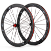 700C clincher tubuless carbon road wheels with chosen 4 bearings hub