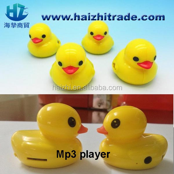 duck mp3 good quality 2014 New Arrival Mini MP3 Player of duck design with USB Cable and Earphone mp3 player