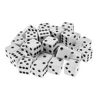 Plastic White 16mm Gaming Dice Standard Six Sided Dice
