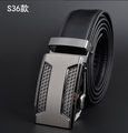 Leather Strap, Split Leather Belts in Black 35mm