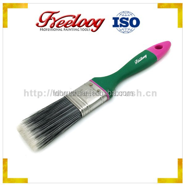 Soft rubber plastic handle paint brushes wholesale
