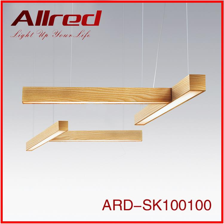 30w 48w 60w wooden high quality luminaire indoor led linear pendant light
