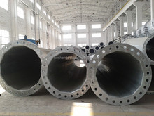 132kv 32kv Galvanized Transmission Line Steel Pole Tower