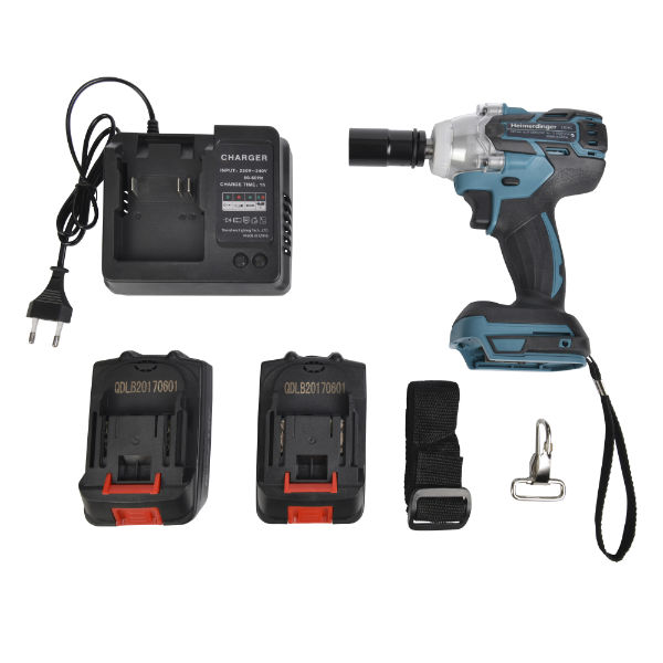 cordless battery impact wrench with battery