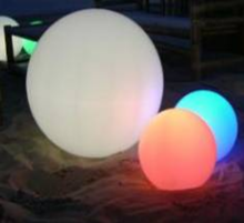 2017 Facotry Wholesale New Design Rechargeable Floating Led Ball Light Decoration PE 15-80CM IP68
