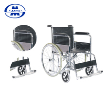 Used Manual Steel Frame aluminum footplate wheelchair for elderly