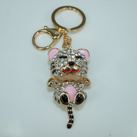 K108 Free shipping Keychain Crystal Keyring 2016 new product Key chian fashion Key ring Hawaiian key chains Rhinestone keyrings
