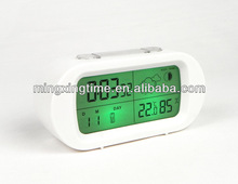 hourly chime alarm desk clock with backlight