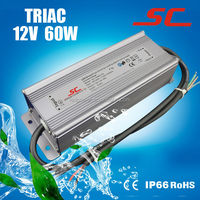 12v 5A 60W Triac constant voltage dimmable led power supply for led strip light and led module