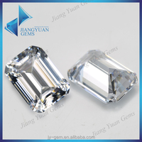 AAA emerald-cut cz gems russian lab created emerald for crafts