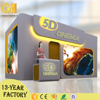 2017 Popular Convenient 5D Motion Cinema, Mobile 5D Cinema Theater Equipment for Sale