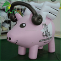Advertising Pink Floating Pig Model / Inflatable Pig Helium Balloon Flying Pig for Sale